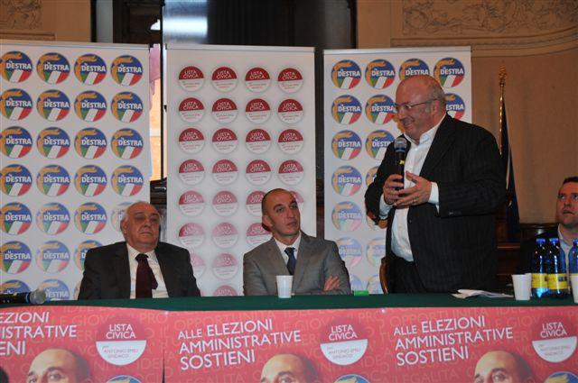 Storace a Rieti per sostenere la campagna di Antonio Emili