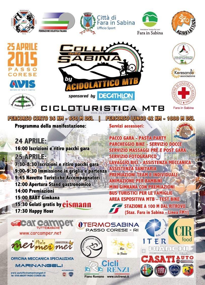 Cicloturistica Colli della Sabina: presentazione il 9 aprile