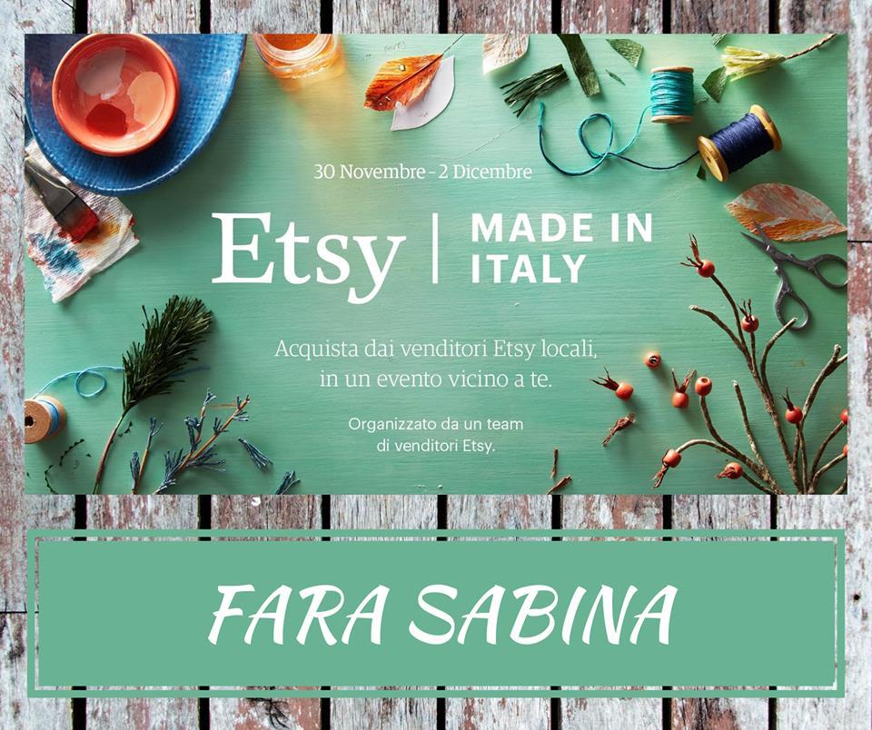 Arriva a Fara in Sabina ETSY Made in Italy