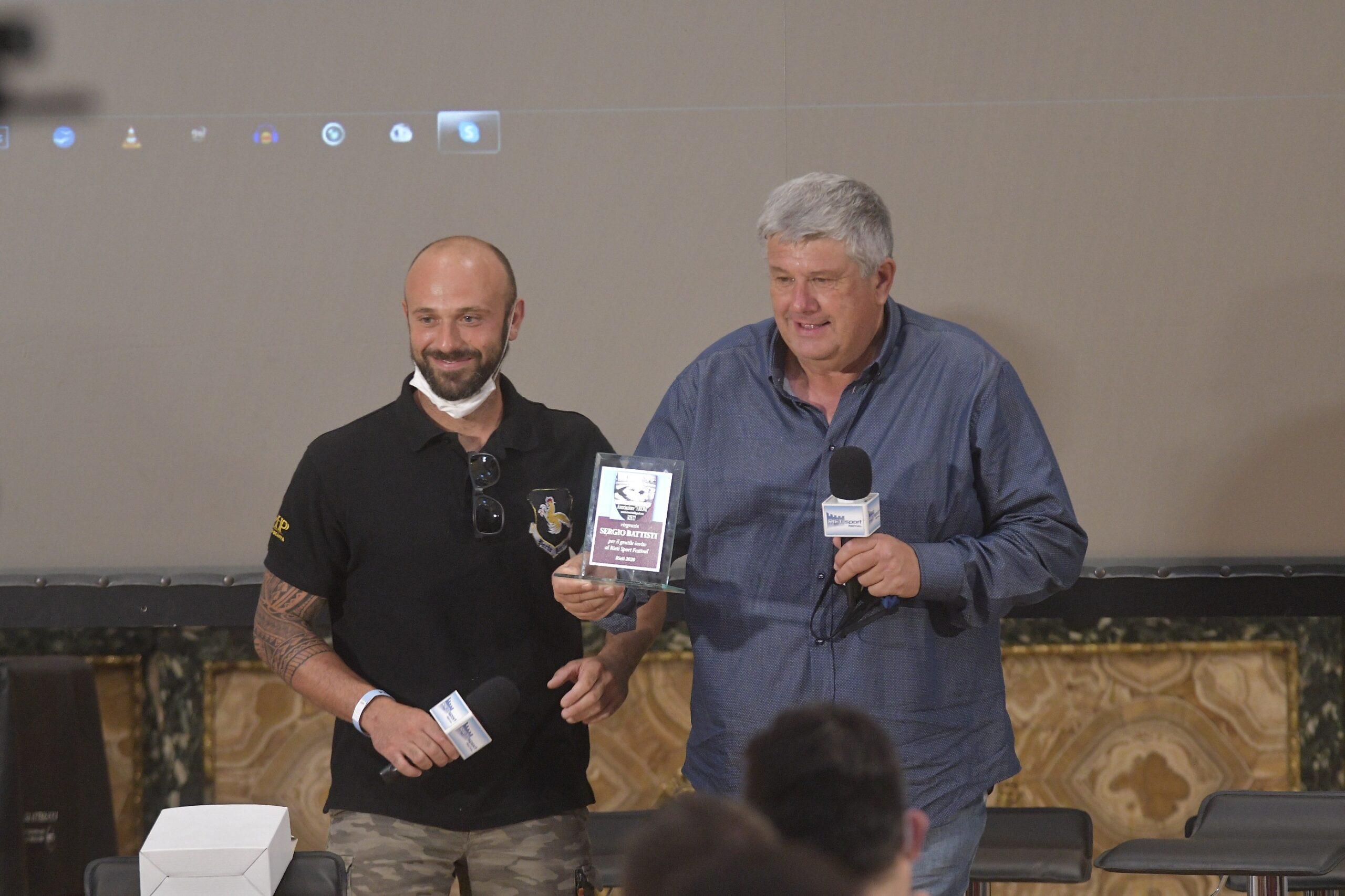 Rieti Sport Festival, premiati i campioni dello sci, Rocca, Origone, Heel, Molgg e il pattinatore Fabris
