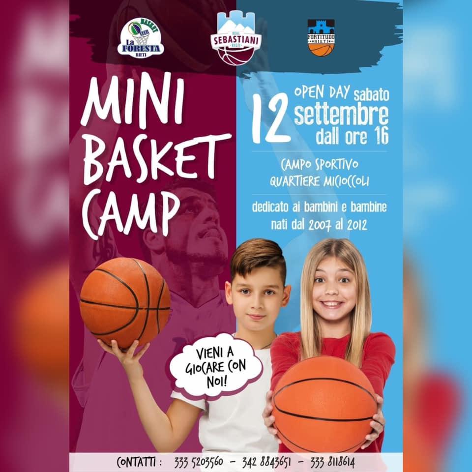 MINI BASKET CAMP, DOMANI L'OPEN DAY: DALLE 16 A MICIOCCOLI