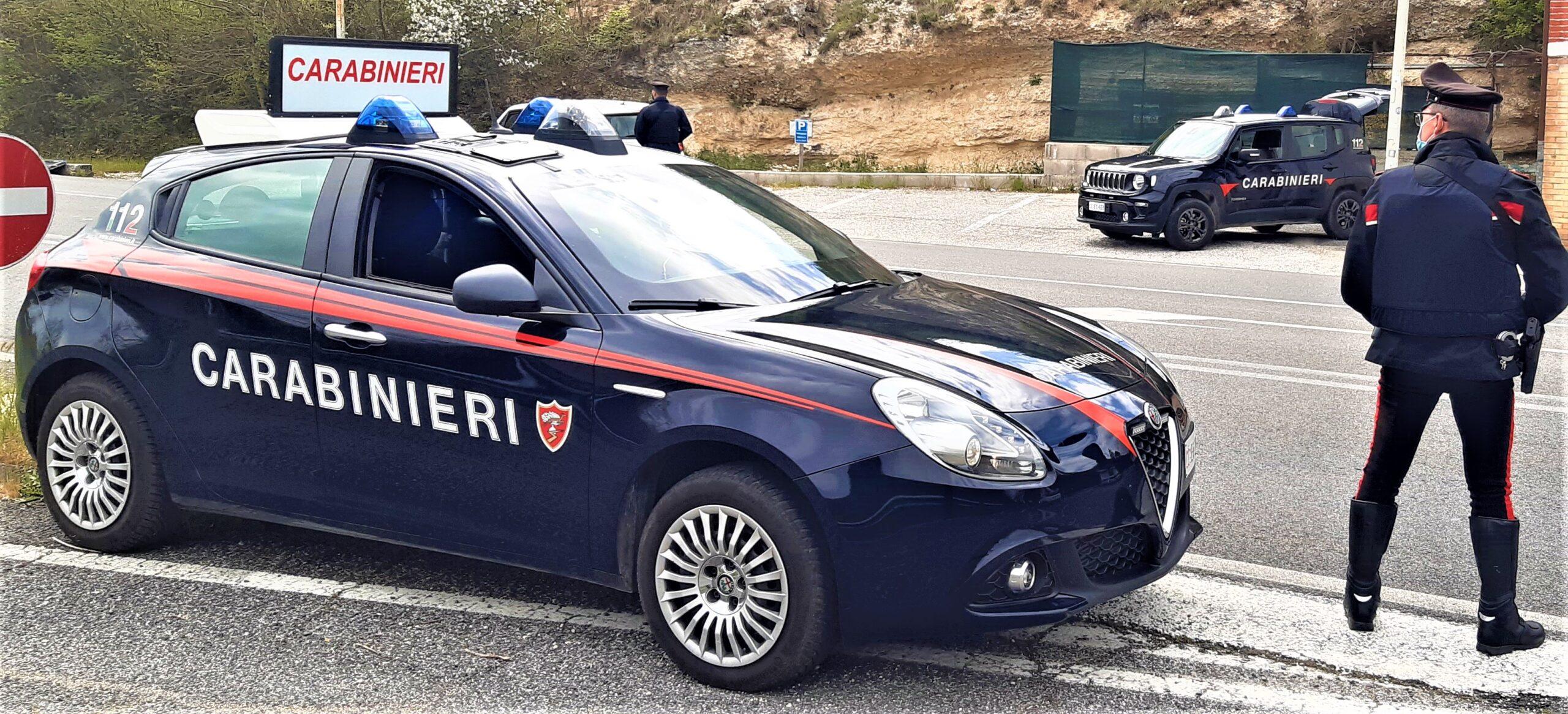 Rieti, Carabinieri: un arresto nel corso di un servizio straordinario di controllo del territorio