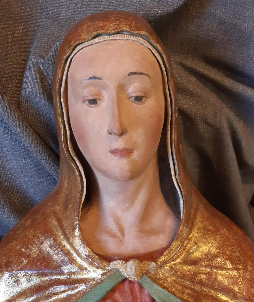 Restaurata la scultura in terracotta della Virgo lactans di Lisciano