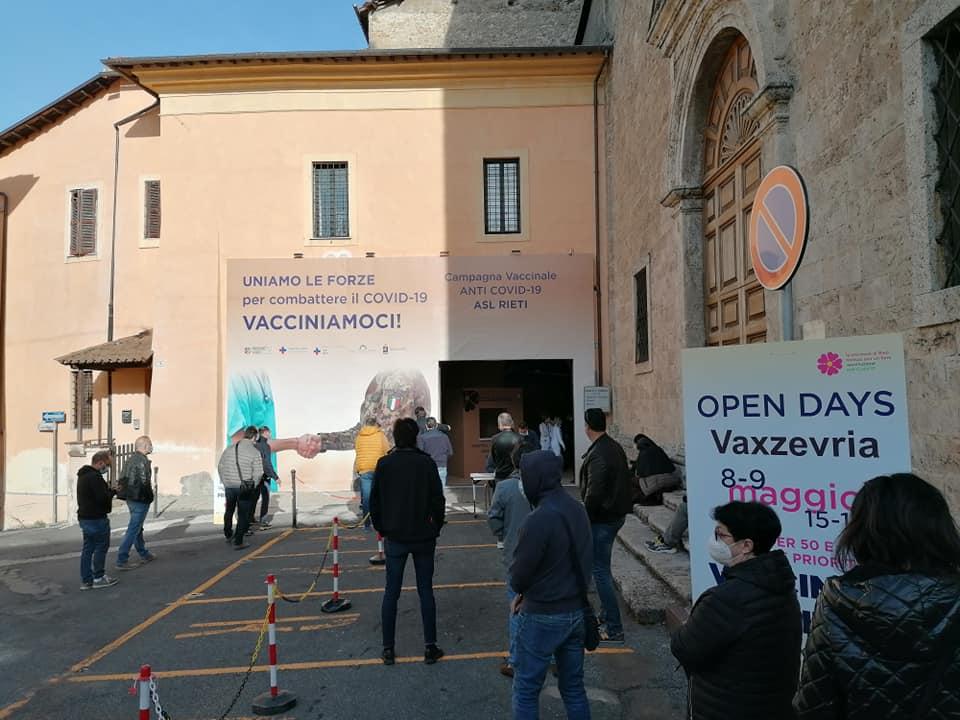 Al via primo Open Days Asl Rieti con vaccinazione over 50 e categorie prioritarie