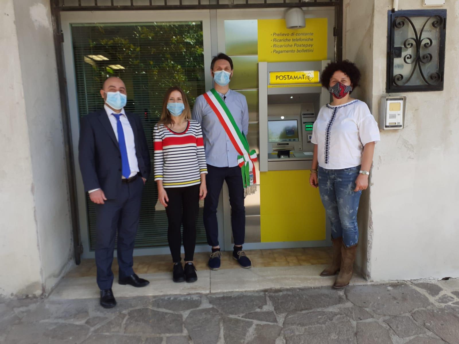 POSTE ITALIANE: INAUGURATO OGGI A TOFFIA L'ATM POSTAMAT PER IL PRELIEVO AUTOMATICO DI CONTANTI