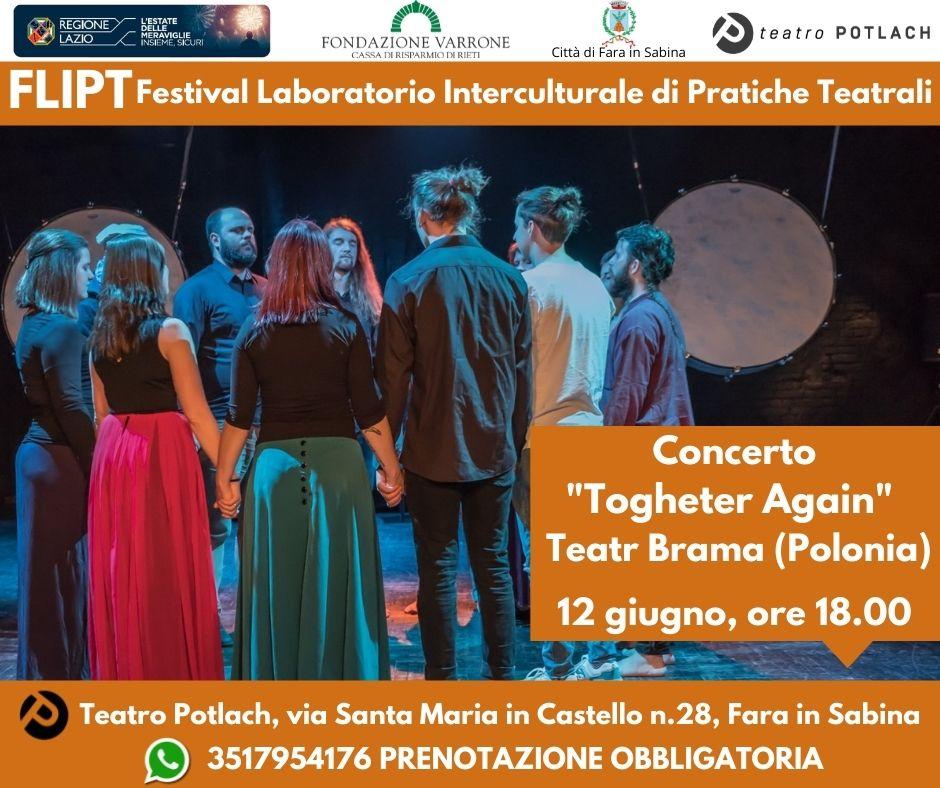Spettacoli al Teatro Potlach l'11 e il 12 giugno ed evento speciale il 20 giugno