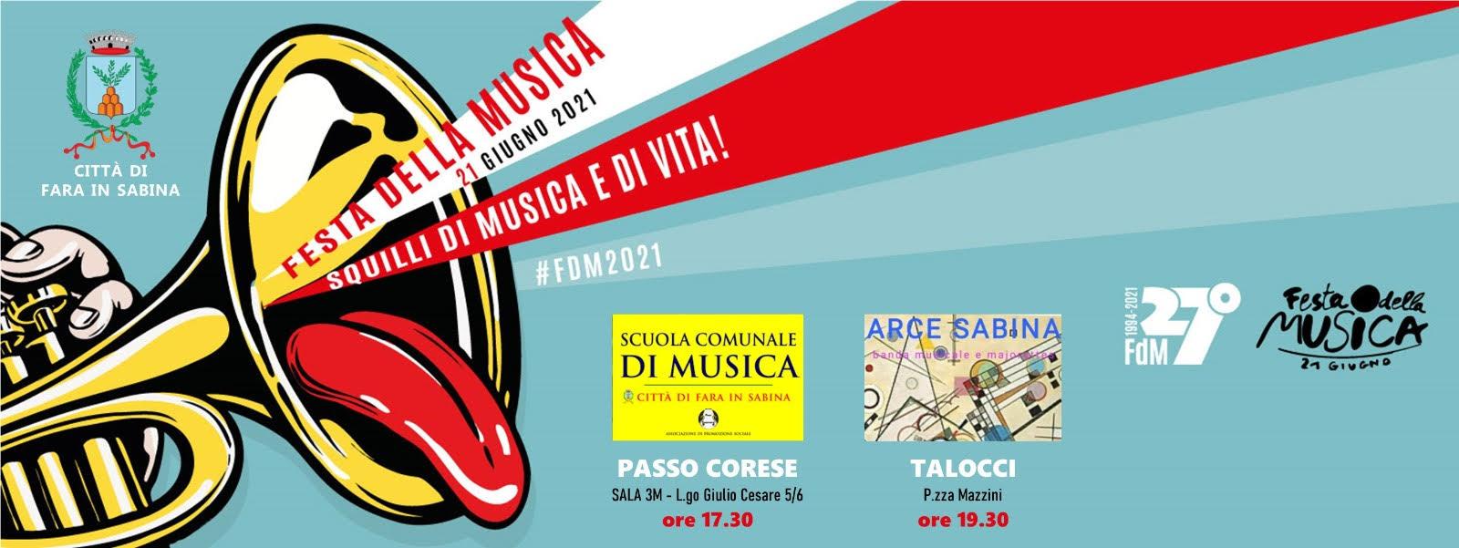 Festa della Musica: due appuntamenti a Fara in Sabina