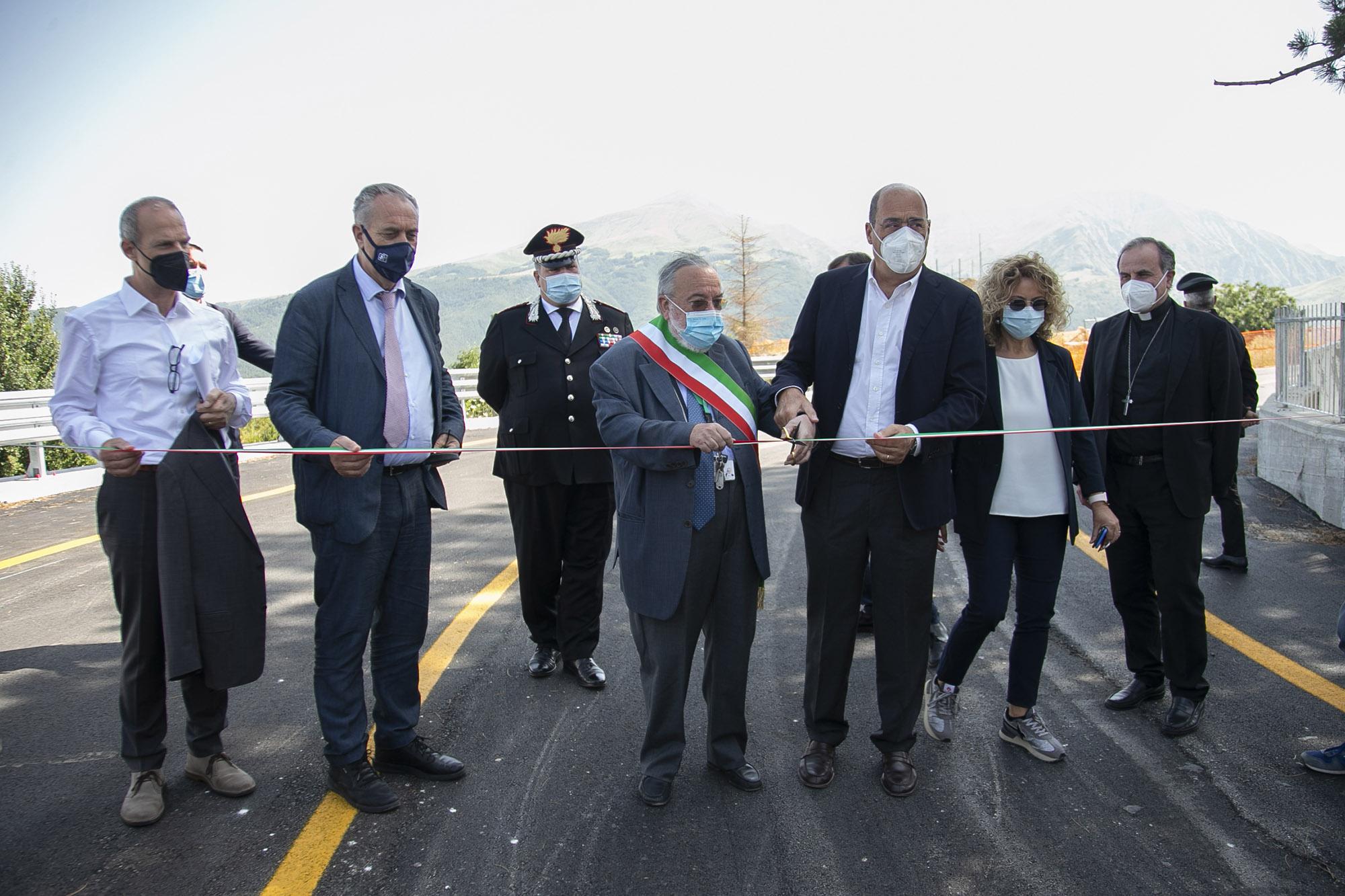 Ricostruzione: inaugurato il bypass a Corso Umberto ad Amatrice