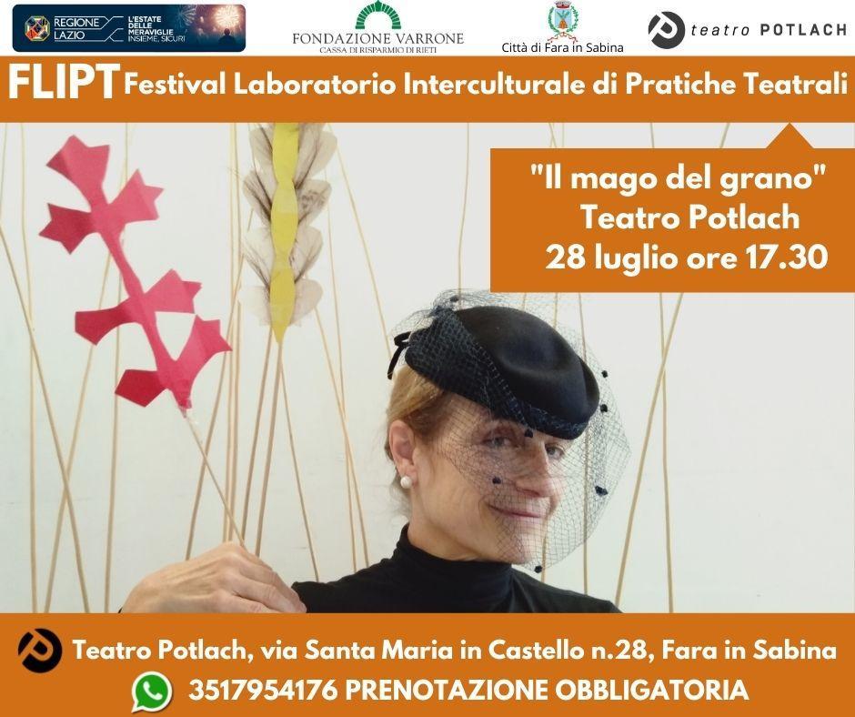 """Teatro Potlach, 28 luglio: """"Il mago del grano"""""""
