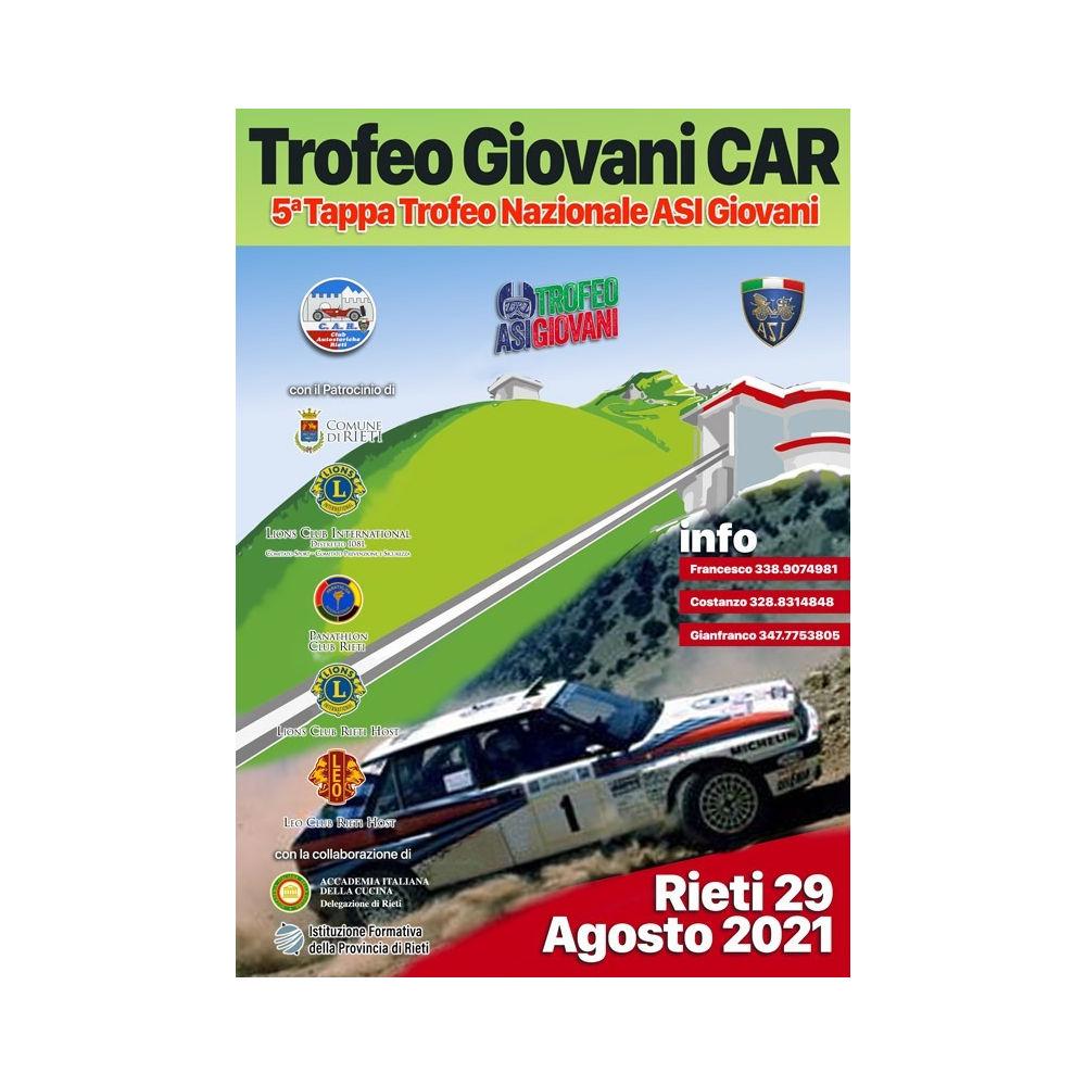 29 agosto, Rieti: quinta Tappa del Trofeo Nazionale A.S.I. Giovani 2021,
