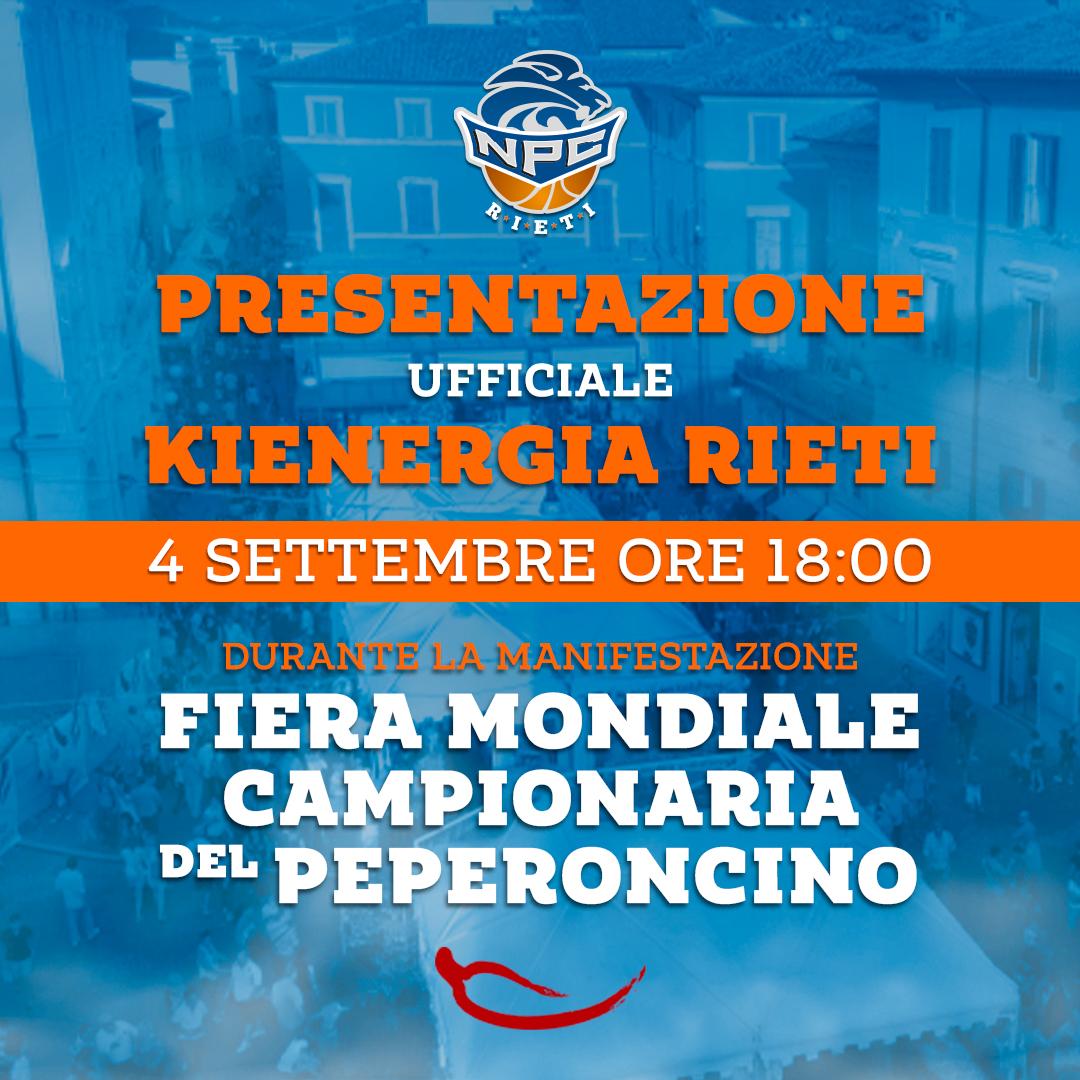 4 settembre, Kienergia: presentazione ufficiale della stagione