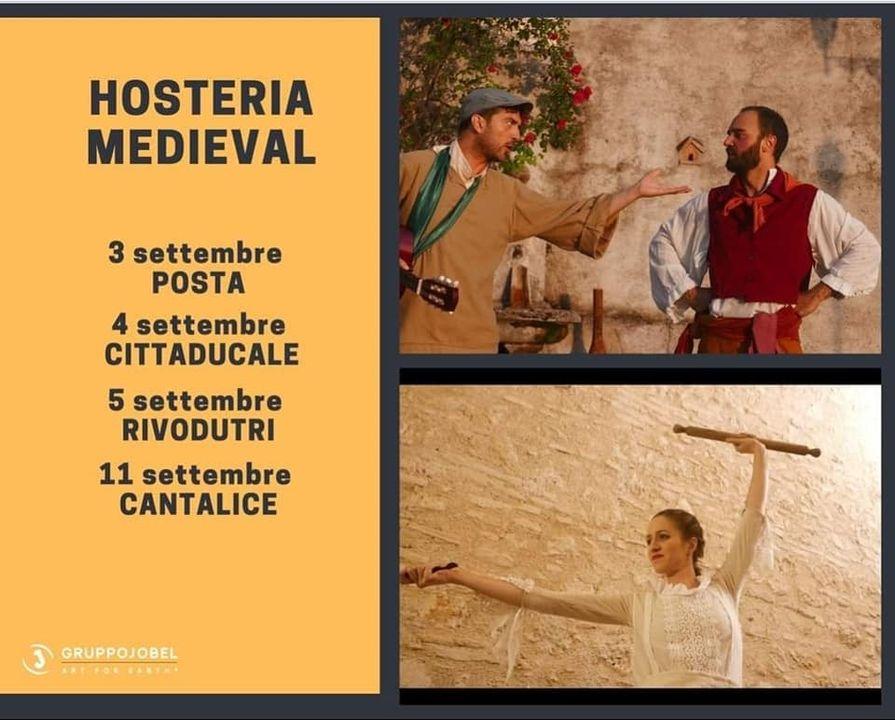 """11 settembre a Cantalice il Gruppo Jobel porta in scena """"HOSTERIA MEDIEVAL"""""""