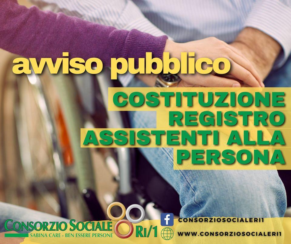 Consorzio Sociale Rieti: avviso pubblico per registro degli assistenti alla persona