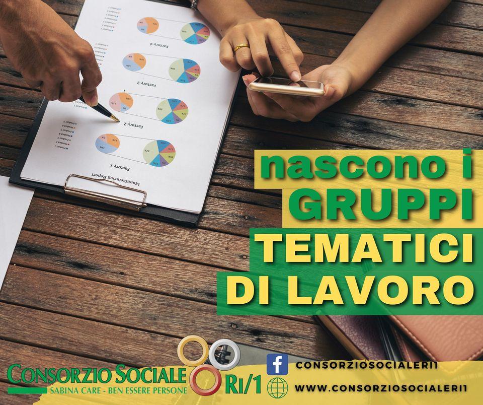 Gruppi di lavoro tematici al Consorzio Sociale RI/1